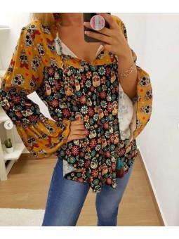 Camisa calaveras mexicanas