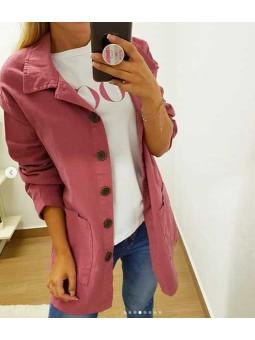 Chaqueta botones rosa