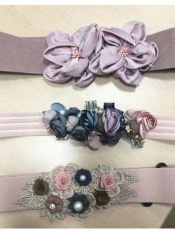 Cinturón flores rosa