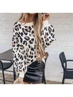 Sueter Leopard lana