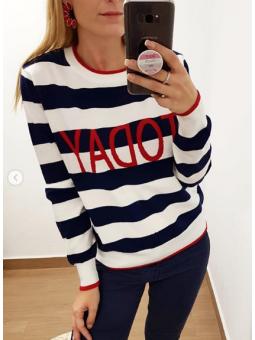 Suéter franjas marino Today