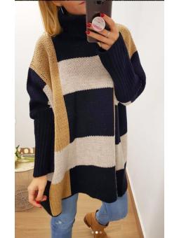 Suéter oversize azul marino...