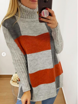 Suéter oversize gris y caldera