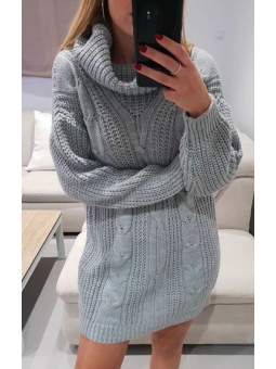 Vestido Roma lana gris