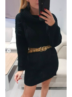 Vestido Roma lana negro