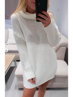Vestido liso crudo