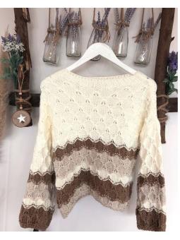 Suéter tonos beige panal