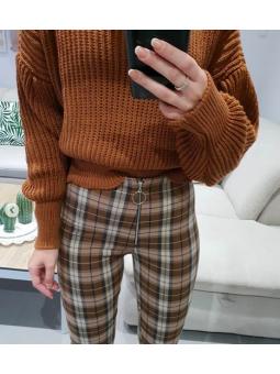 Pantalones cuadro grande...