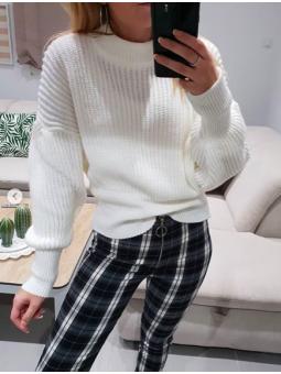 Suéter crudo manga ancha