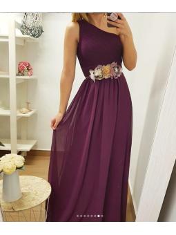 Vestido asimétrico buganvilla