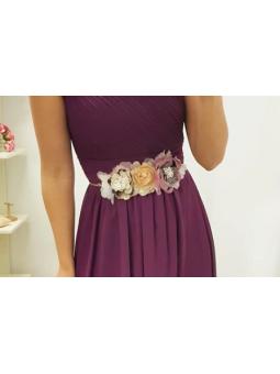 Cinturón flores tonos...
