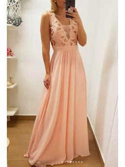 Vestido fiesta rosa Aline