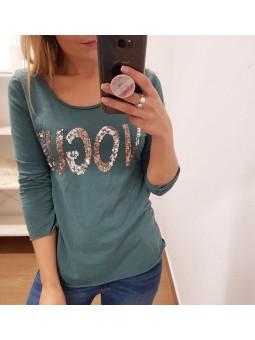 Camiseta Vogue verde