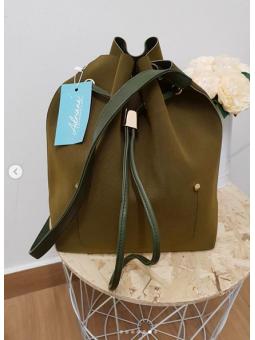 Bolso saquito verde