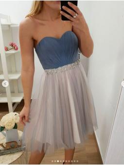 Vestido Sofia corto azul