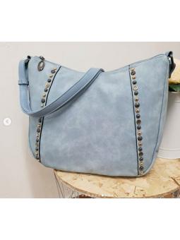 Bolso azul clarito tachuelas