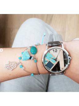 Conjunto reloj tonos y...
