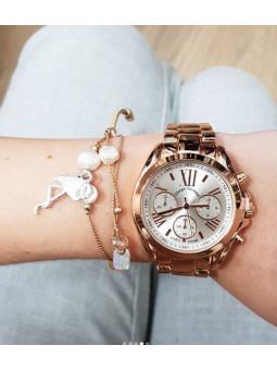 Reloj oro rosa y pulsera...