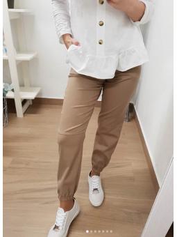 Pantalones camel cadenita