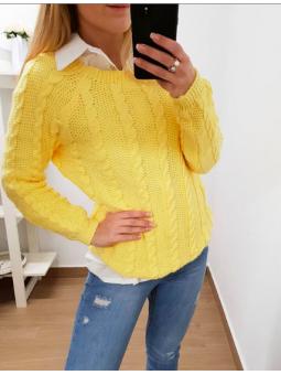Suéter amarillo ochos