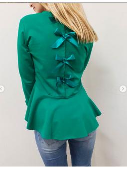 Suéter lazos verde