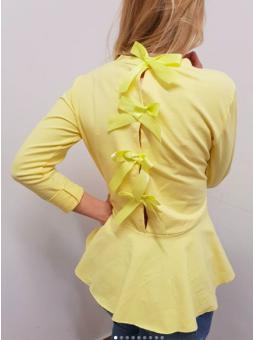 Suéter lazos amarillo