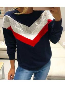 Sudadera tricolor fondo...