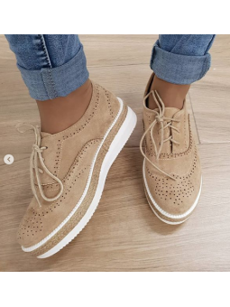 Zapato cordones marrones
