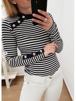 Suéter marinero botones...