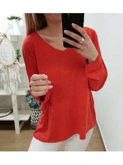 Suéter rojo puntitos
