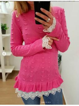 Suéter Valentina fucsia