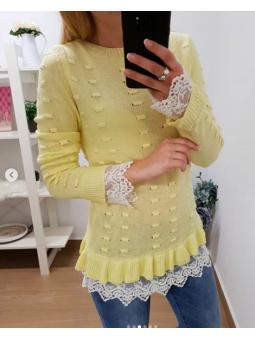 Suéter amarillo Valentina