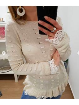 Suéter Valentina beige