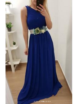 Vestido asimétrico azul klein