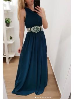 Vestido asimétrico verde