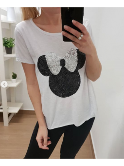 Camiseta lazo plata