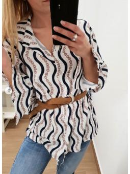 Camisa cadenas marinera