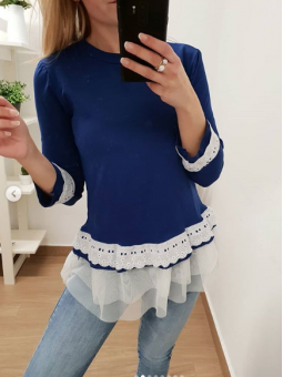 Suéter azul klein volantito...