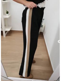 Pantalón plisado franjas...