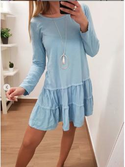 Vestido casual azul claro