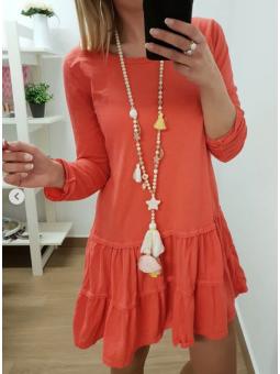 Vestido casual coral