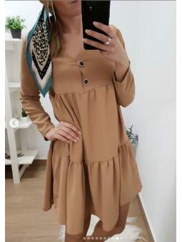 Vestido camel vuelo