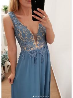 Vestido fiesta azul claro...