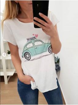 Camiseta Volks aguamarina