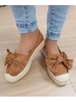 Zapato suela esparto marrón...