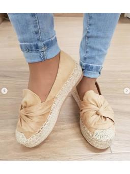 Zapato suela esparto camel...