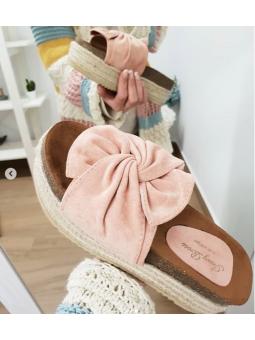 Sandalia lazo rosa (Ref:...