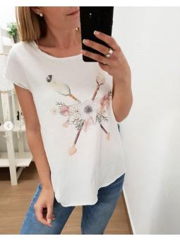 Camiseta flechas flores