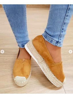 Zapato esparteña camel...