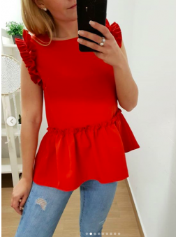 Blusa Jimena volante roja